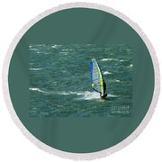 Catching Wind And Surf Round Beach Towel