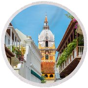 Cathedral And Balconies Round Beach Towel