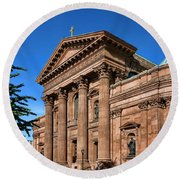 Cathedral Basilica Of Saints Peter And Paul Round Beach Towel