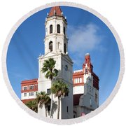 Cathedral Basilica Of St. Augustine Round Beach Towel