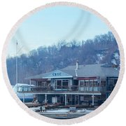 Cathedral Bluffs Yacht Club At Toronto Round Beach Towel