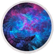 Cathedral Calamity Round Beach Towel
