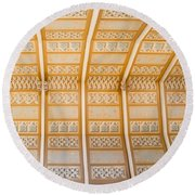 Cathedral Ceiling Round Beach Towel
