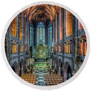 Cathedral Chapel Round Beach Towel