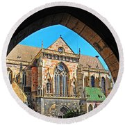 Cathedral Colmar France Round Beach Towel
