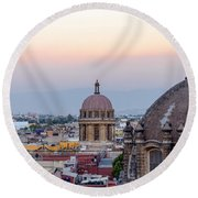 Cathedral Dome And City Round Beach Towel