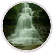 Cathedral Falls Round Beach Towel