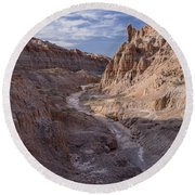 Cathedral Gorge Wash Round Beach Towel