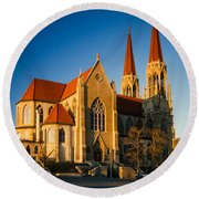 Cathedral Helena Montana Round Beach Towel