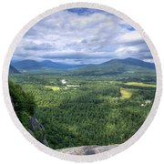 Cathedral Ledge View Round Beach Towel