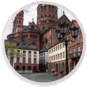 Cathedral - Mainz Round Beach Towel