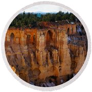 Cathedral Of God Round Beach Towel