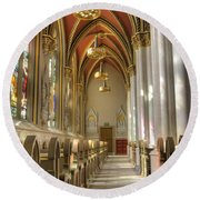 Cathedral Of Saint Helena Round Beach Towel