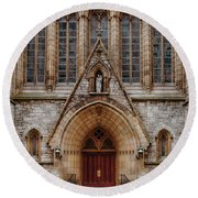 Cathedral Of Saint Joseph Round Beach Towel