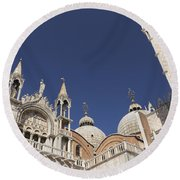 Cathedral Of San Marco  Round Beach Towel