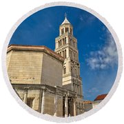 Cathedral Of Split Diocletian Palace Round Beach Towel