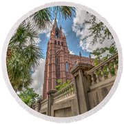Cathedral Of St. John Round Beach Towel
