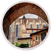 Cathedral Of Ste-cecile In Albi France Round Beach Towel