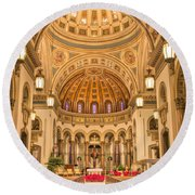 Cathedral Of The Sacred Heart 2 Round Beach Towel