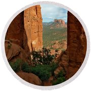 Cathedral Rock 05-012 Round Beach Towel by Scott McAllister