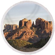 Cathedral Rock At Sunset Round Beach Towel