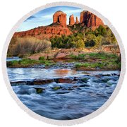 Cathedral Rock II Round Beach Towel