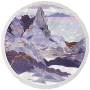 Cathedral Rock  Iona Round Beach Towel