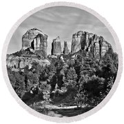 Cathedral Rocks Red Rock State Park Arizona Round Beach Towel