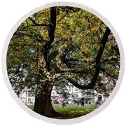 Cathedral Square - Exeter Round Beach Towel