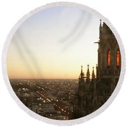 Cathedral Sunset - La Plata Round Beach Towel