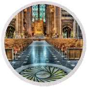 Cathedral Way Round Beach Towel