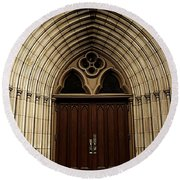 Catherdral Door's Round Beach Towel