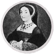 Catherine Howard (1520-1542) Round Beach Towel