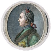 Catherine II Of Russia (1729-1796) Round Beach Towel