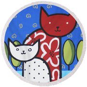 Cats 1 Round Beach Towel