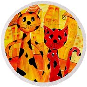 Cats 650 Round Beach Towel