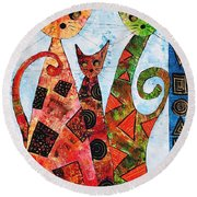 Cats 737 - Marucii Round Beach Towel