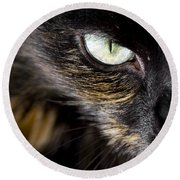 Cats Eye Round Beach Towel