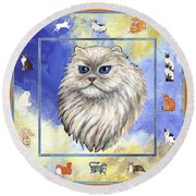 Cats Purrfection Four - Persian Round Beach Towel