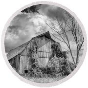 Cattaraugus County Barn 6160b Round Beach Towel