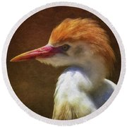 Cattle Egret 2 Round Beach Towel