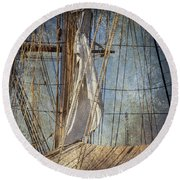 Caught By The Sea Round Beach Towel