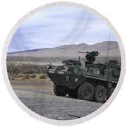 Cavalry Troopers Fire Round Beach Towel