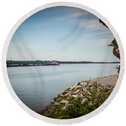 Cave In Rock Illinois Round Beach Towel