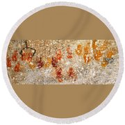 Cave Of A Thousand Hands Round Beach Towel