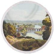 Caversham Bridge, Near Reading Round Beach Towel by William Havell