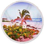 Cayman Island Secret Round Beach Towel