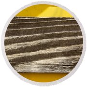 Cedar Plank On Yellow Round Beach Towel