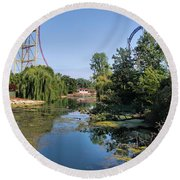 Cedar Point Ohio Round Beach Towel