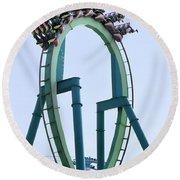 Cedar Point Roller Coaster Round Beach Towel